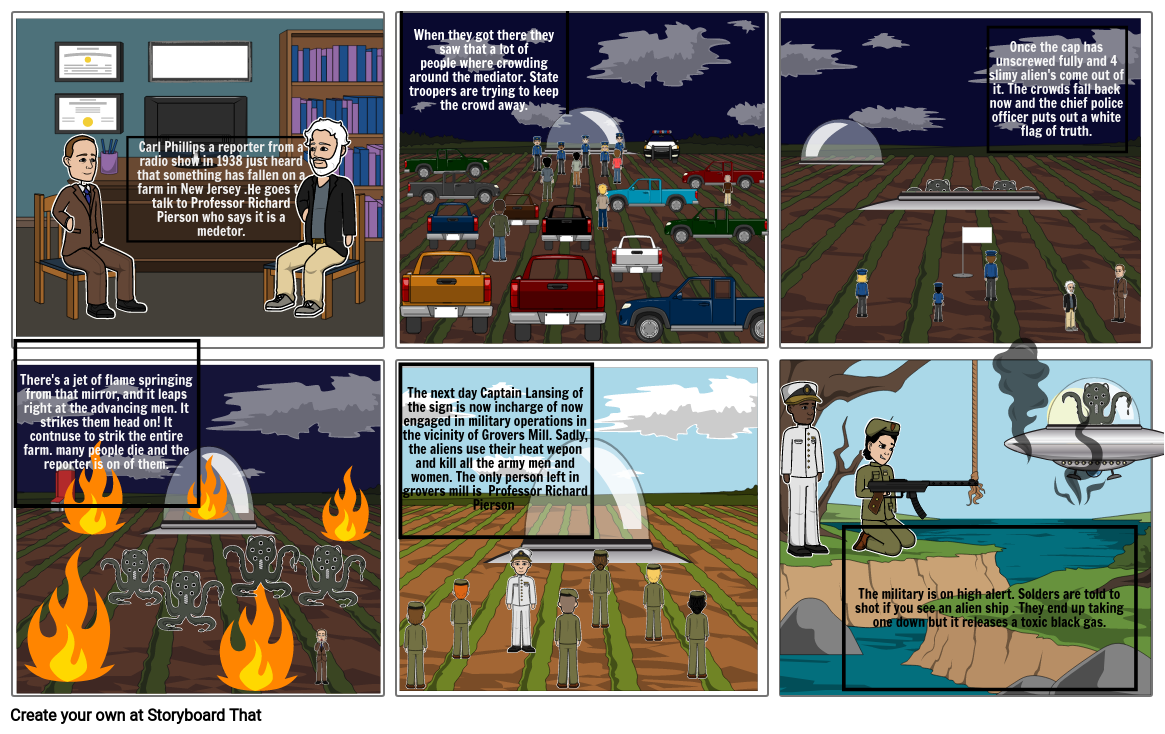 War of the Worlds Comic strip (Isabelle Lemoine) 3rd and 4th period