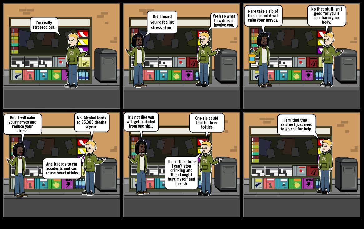Health Risk Behavior comic