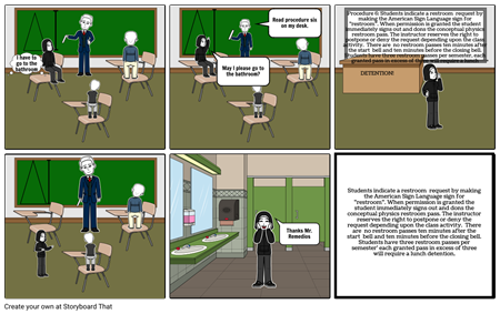 Physics storyboards