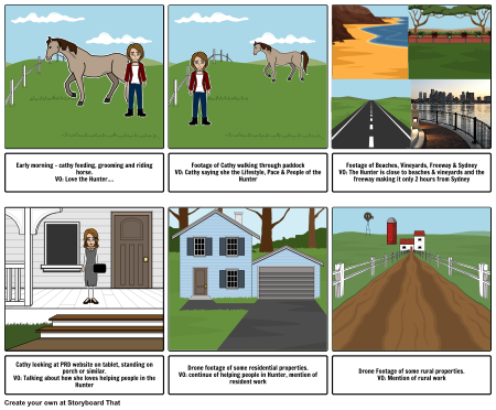 Cathy Cattell - Storyboard Part 1