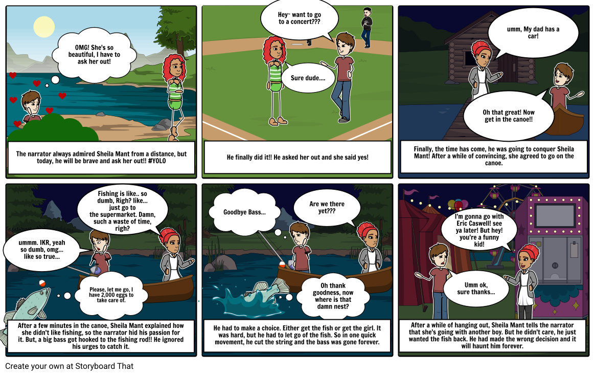 The bass the river and Sheila Mant comic by Chrisnelly