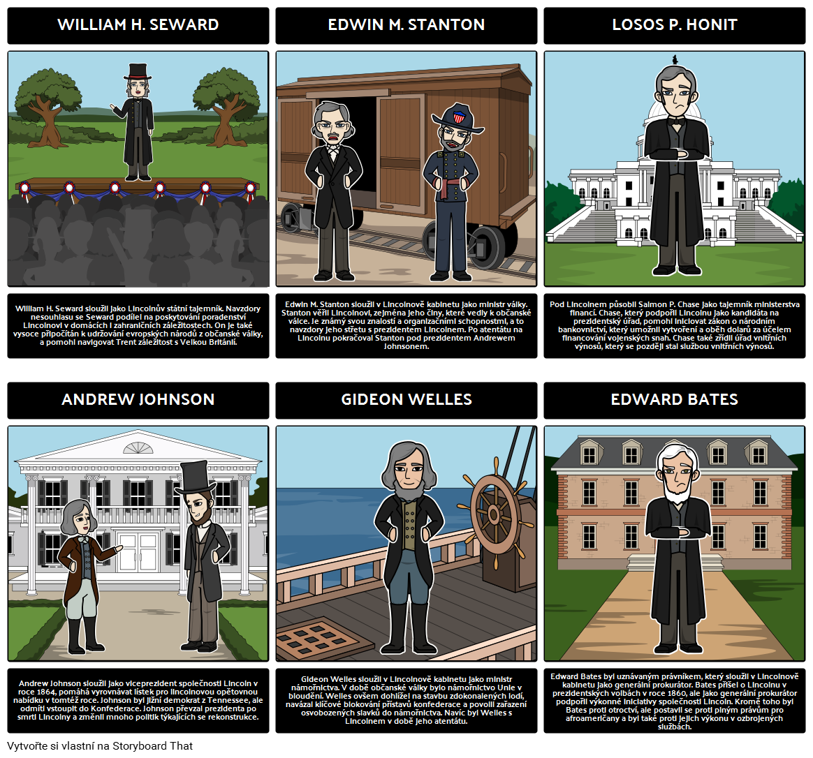 Abraham Lincoln Předsednictví - Hlavní Postavy Lincolna Kabinetu