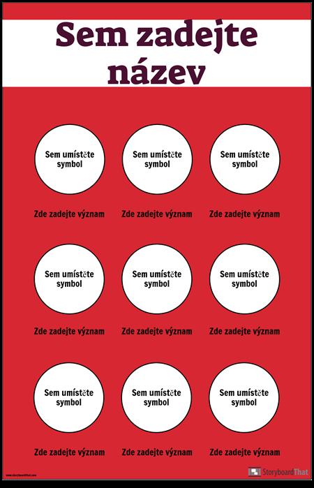 Bezpečnostní Symboly Plakát