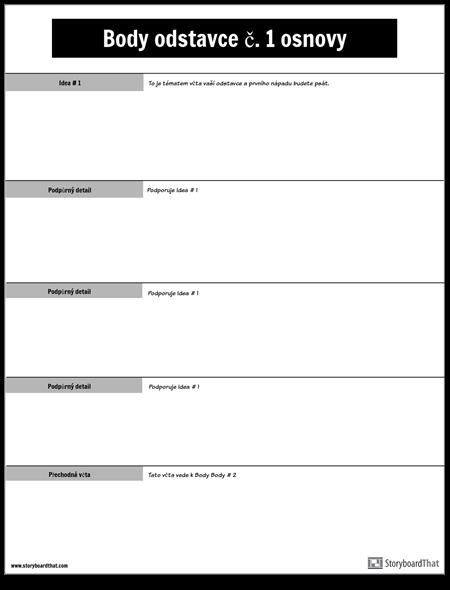 Body Odstavec č. 1 Osnova