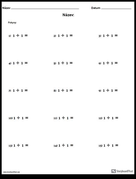 Divize - Jedno Číslo - Verze 1