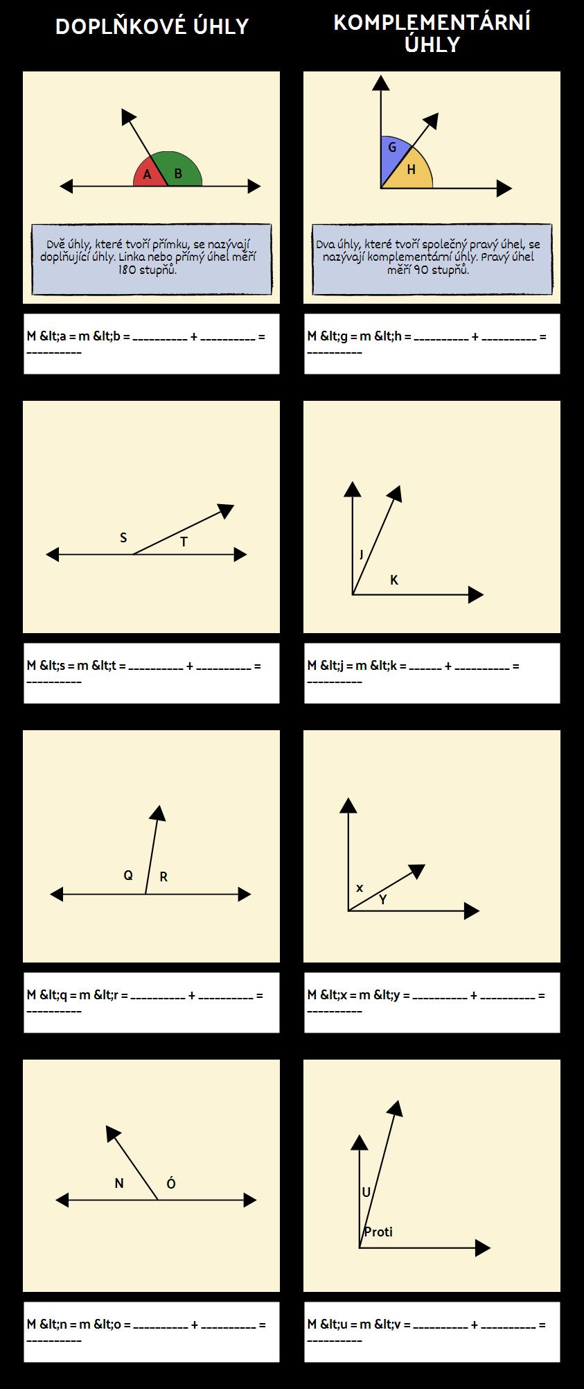 Doplňkové a Doplňkové Úhly