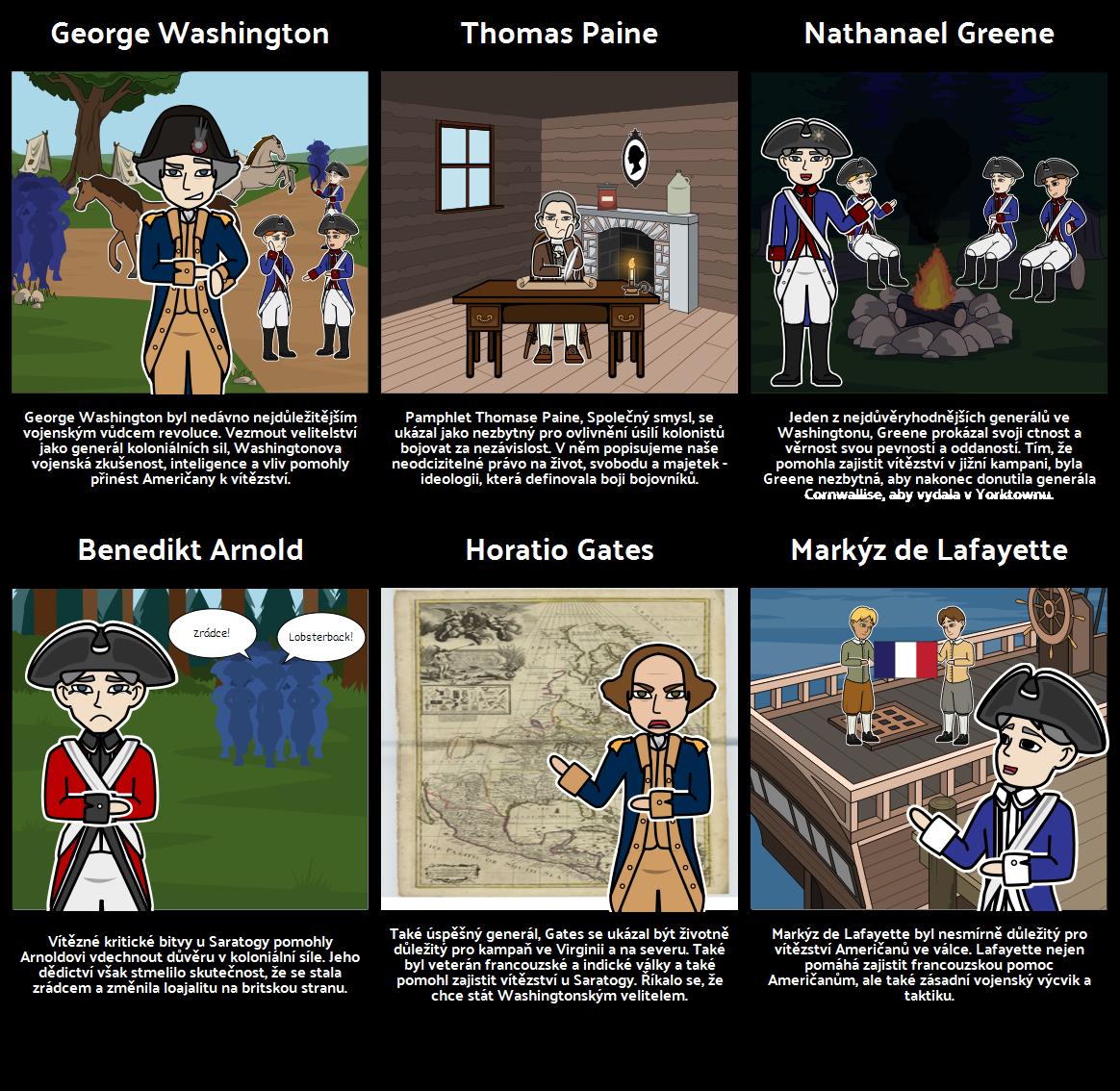 Důležité Lidé z Americké Revoluce
