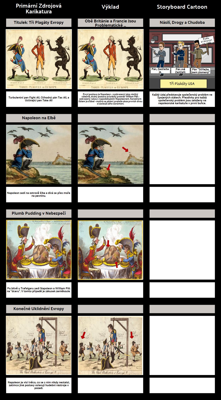 Francouzská Revoluce - Politické Karikatury: Napoleon
