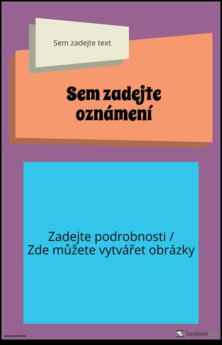 Groovy Oznámení Plakát