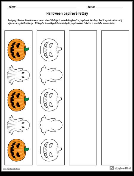 Halloween Papírové Řetězy
