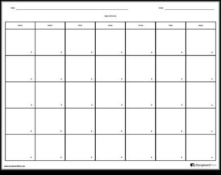 Kalendář - 7 dní