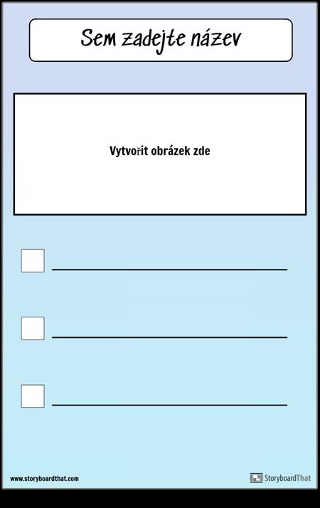 Kontrolní seznam s obrázkem