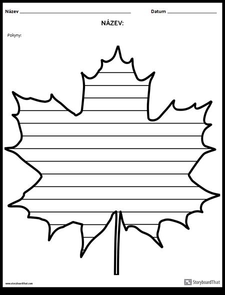 Kreativní Psaní - Maple Leaf