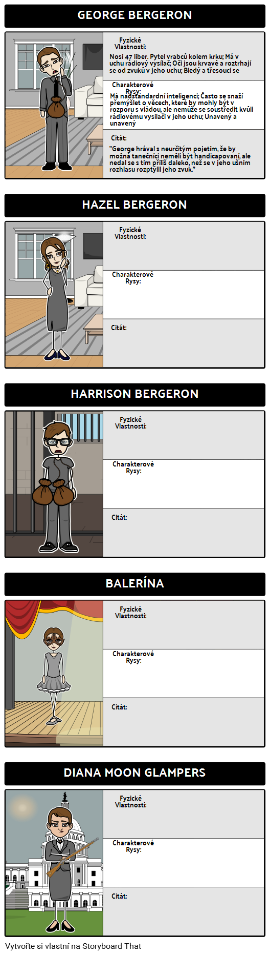 Mapa Znaků pro Harrison Bergeron