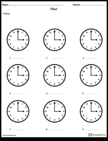 Napiš čas