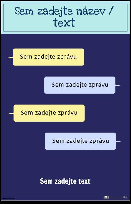 Šablona PSA pro Textové Zprávy