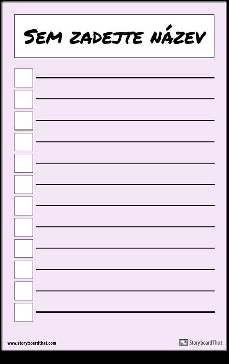 Základní Kontrolní Seznam Plakátů