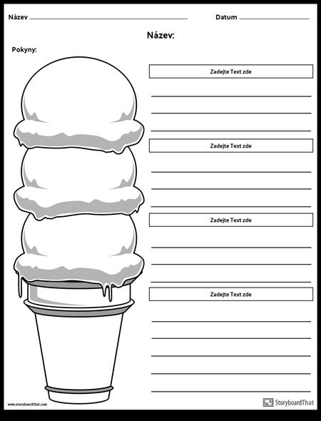 Zmrzlinový Kuželový Odstavec