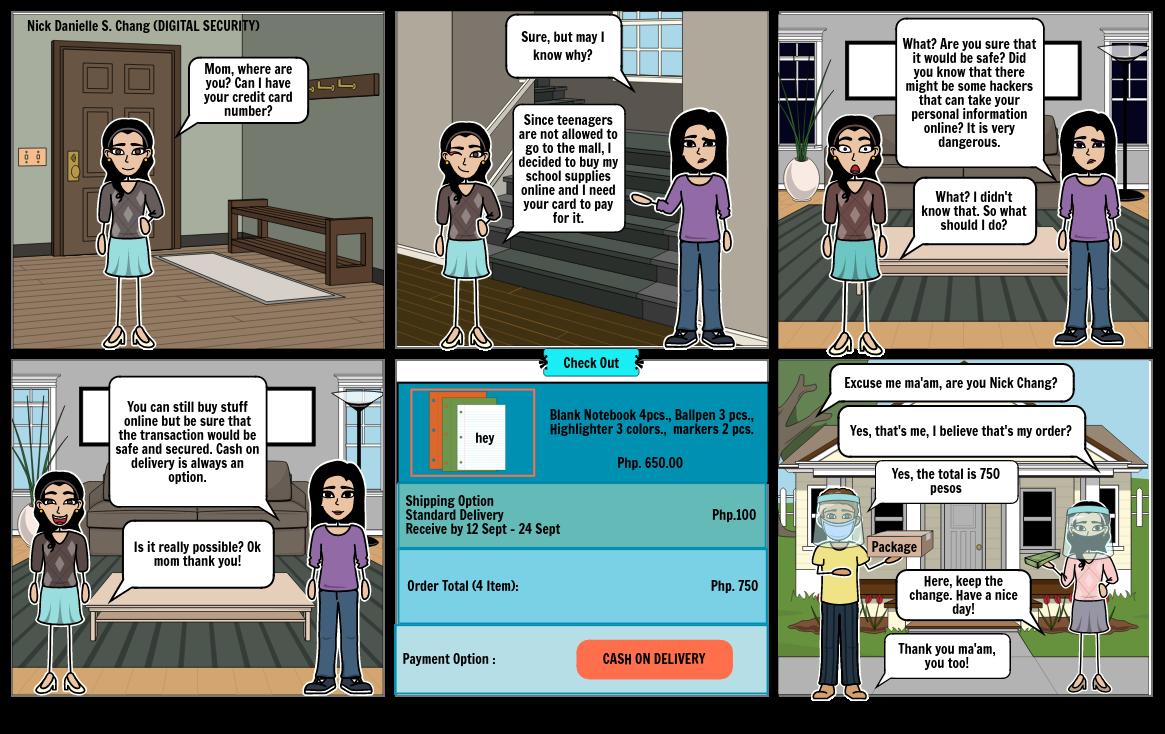Comic Strip on Digital Citizenship