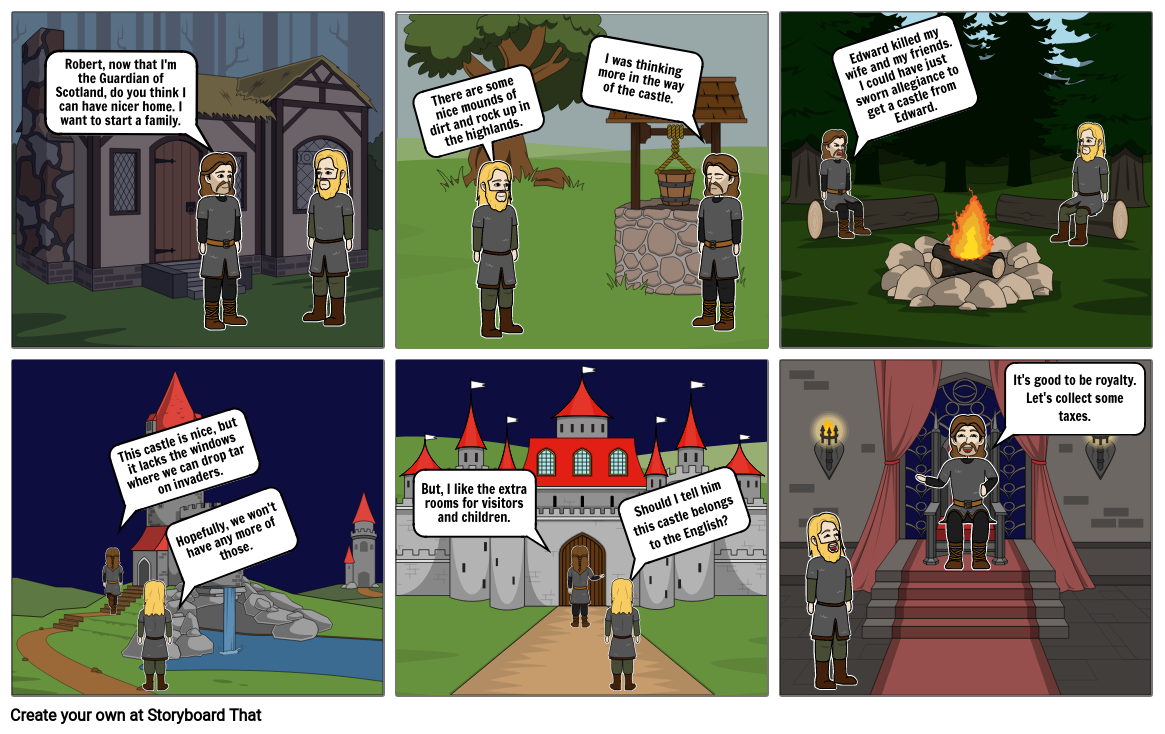 Storyboard - Historical memory ( William Wallace & Robert the ruce
