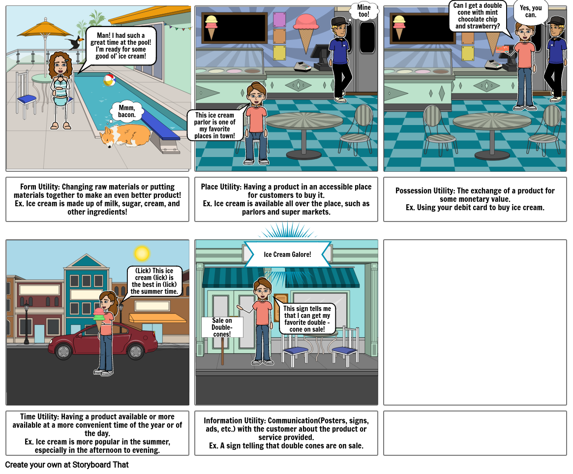 5 Forms of Utility Storyboard