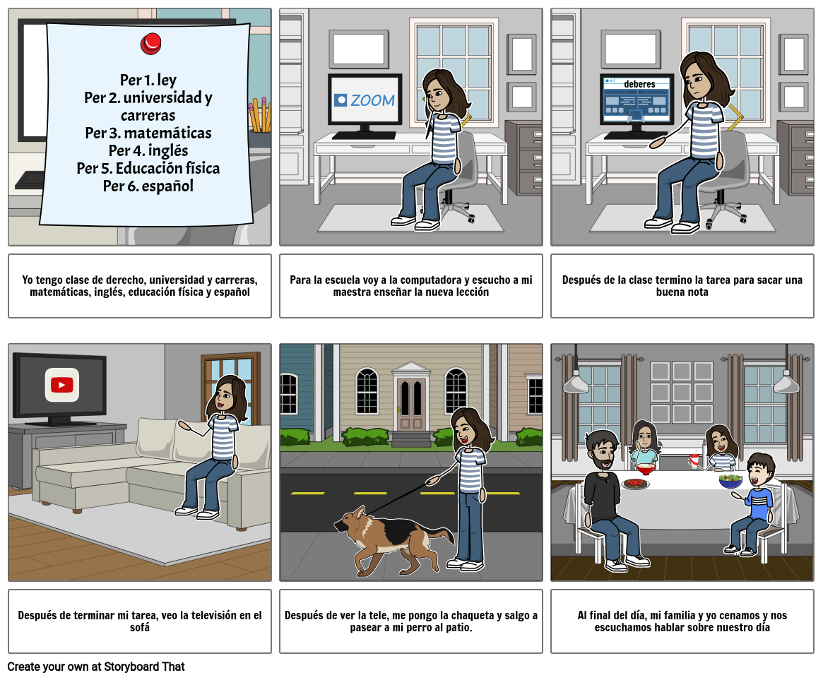 Story Board Spanish Project