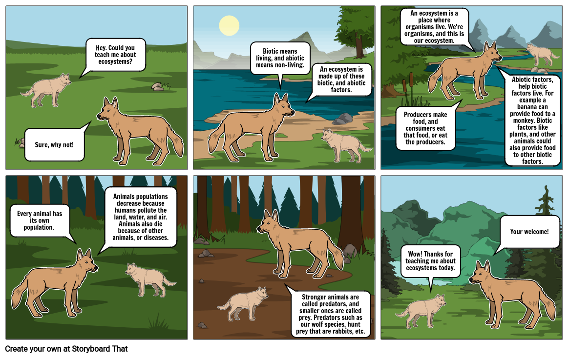 Ecosystem Comic Strip