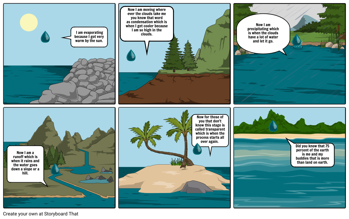 The stages of the water cycle
