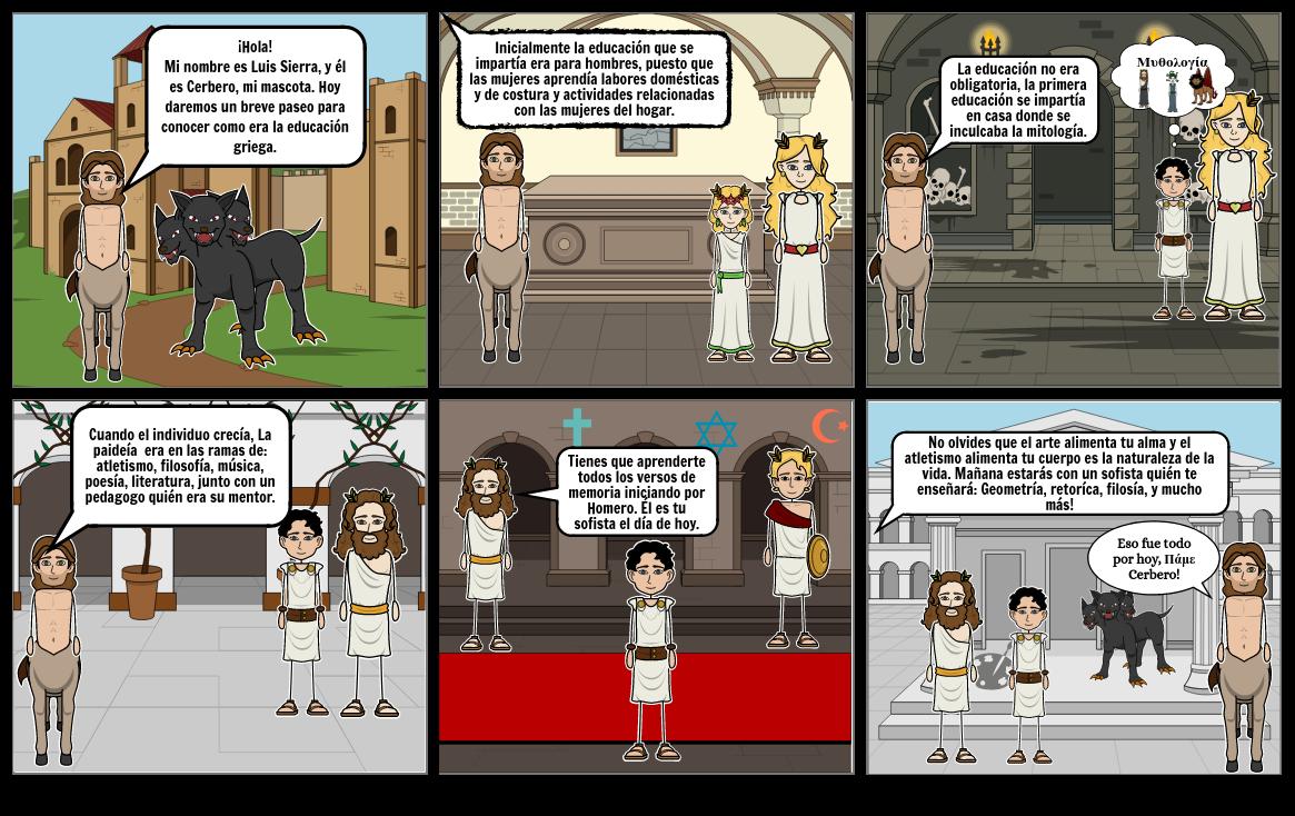 Historieta educación primitiva