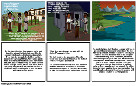 Fredrick Douglass Attempts to Escape Slavery (ELA Project)