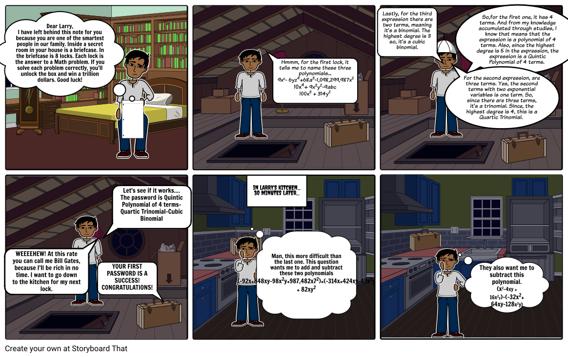 Polynomial Project Storyboard by d61f6215
