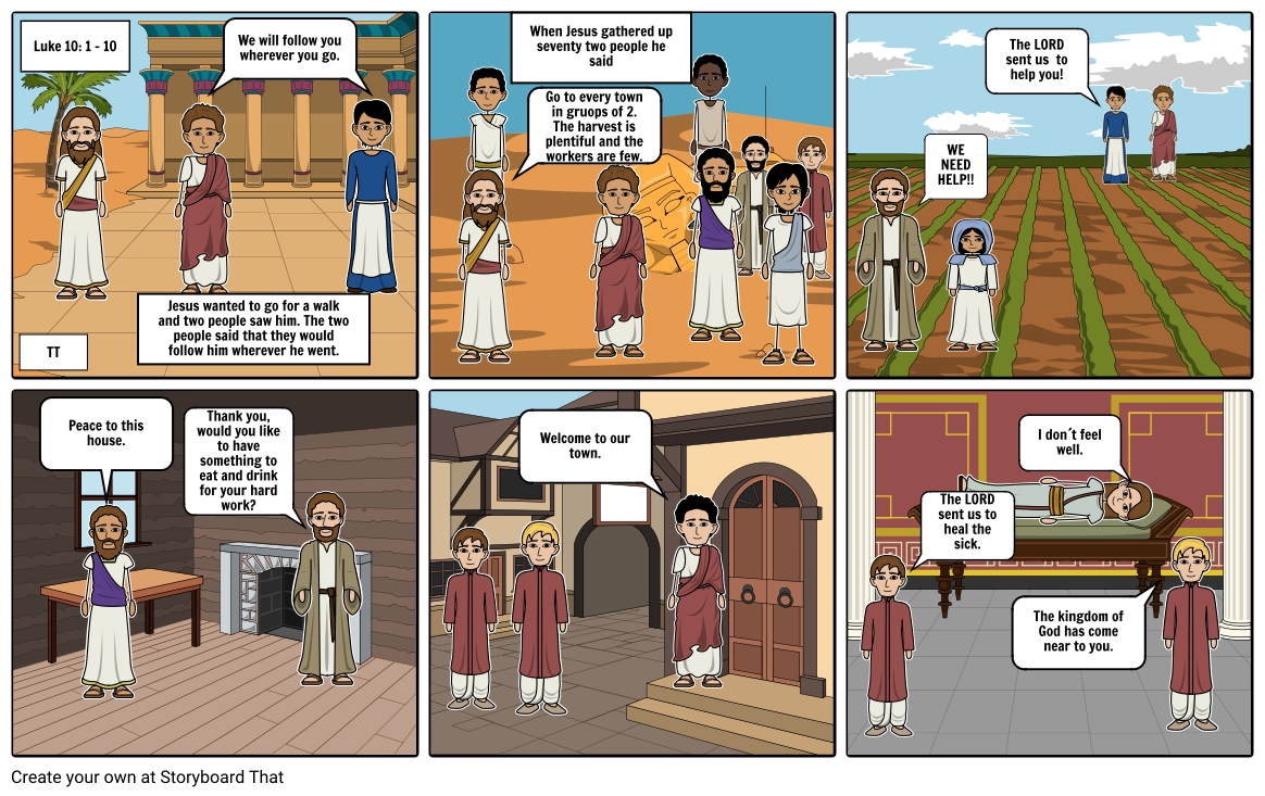 Storyboard Project-Jesus Sends Out the Seventy-Two