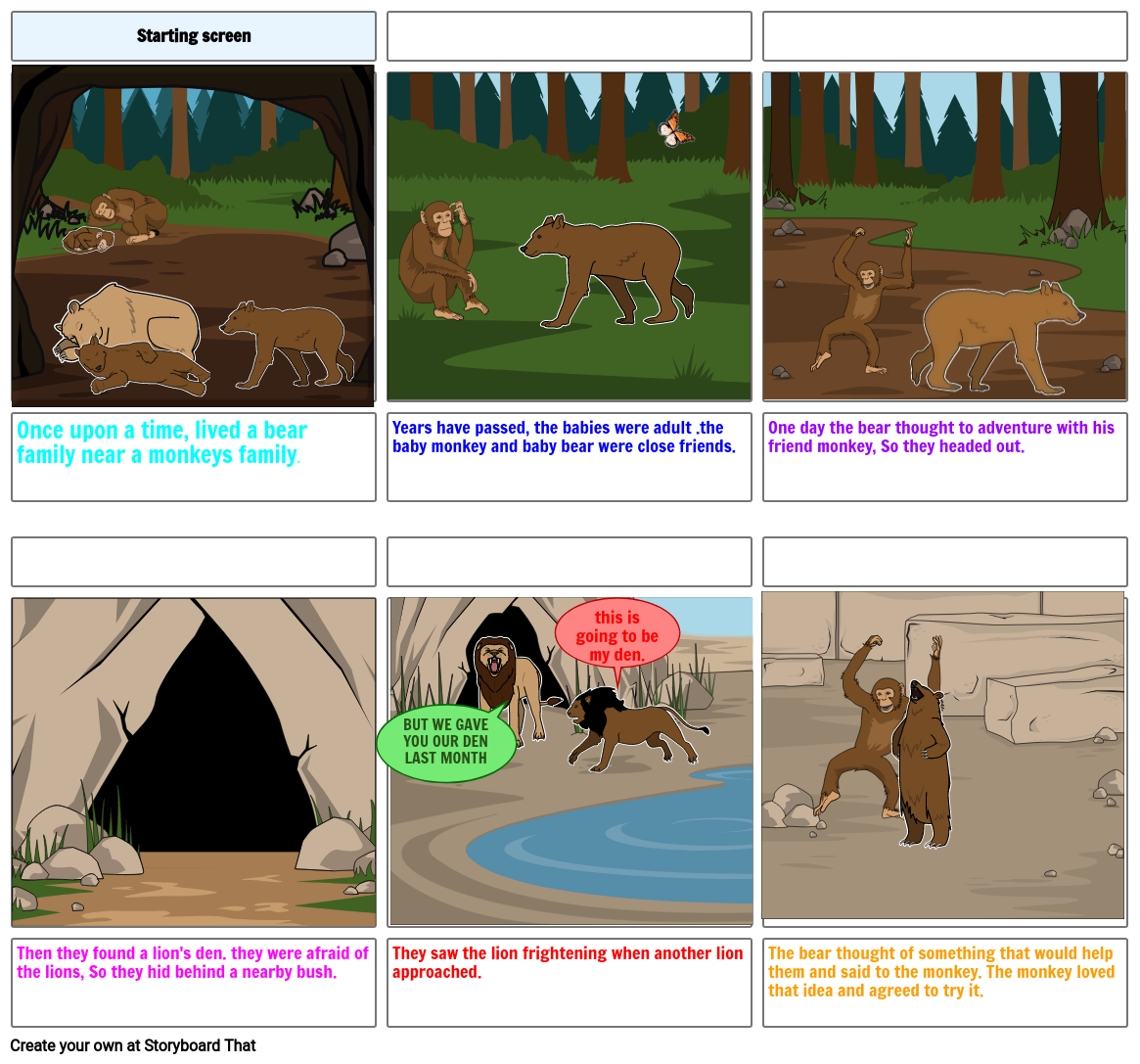The bear and The monkey part 1