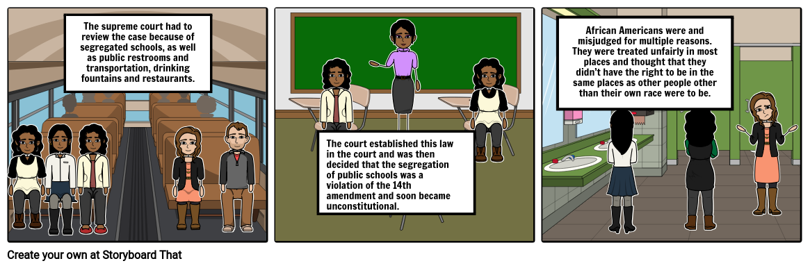 Brown v. Board of Education, 1954 (9-0 decision)