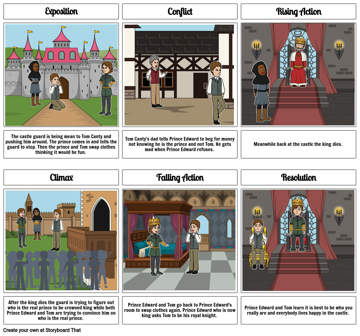 The Prince and the Pauper Storyboard  By: Roxie Ciesar