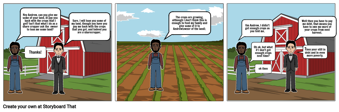 Sharecropper Life(reconstruction comic strip)