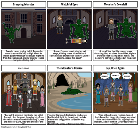 Beowulf 's and Grendel's battle