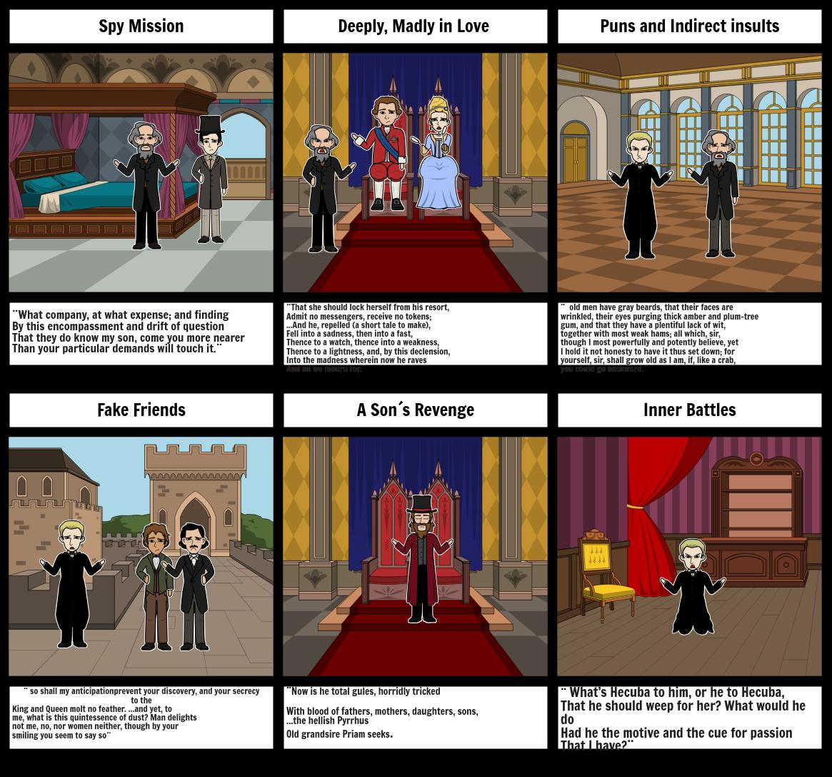 Hamlet Act 2 , scenes 1&2