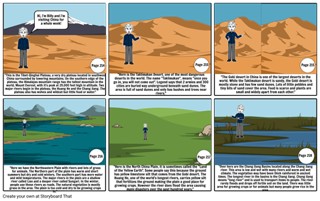 China geography storyboard project
