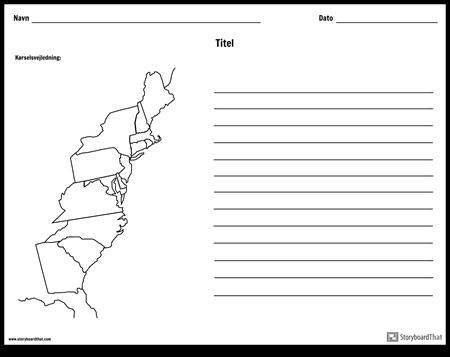 13 Kolonier Kort - med Linjer