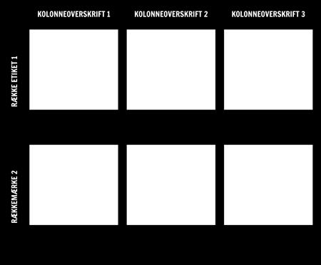 2x3 Diagramskabelon