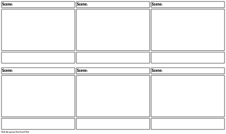 Blank Film Storyboard Skabelon