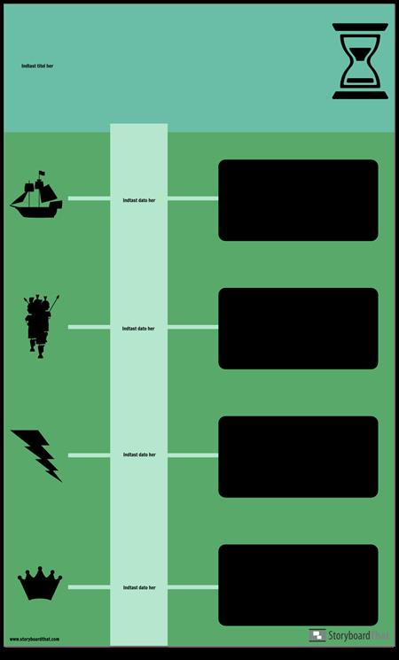 Bloker Tidslinje Infographic