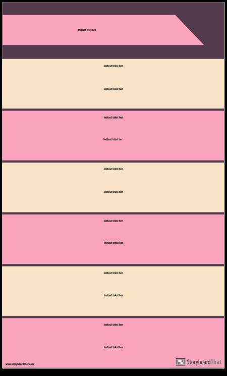 Blokeringssektioner Infografisk Skabelon