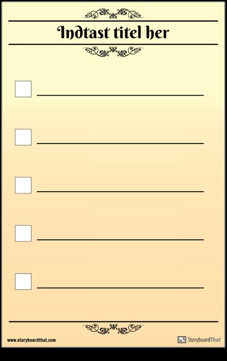 Grundlæggende 5 Tjekliste