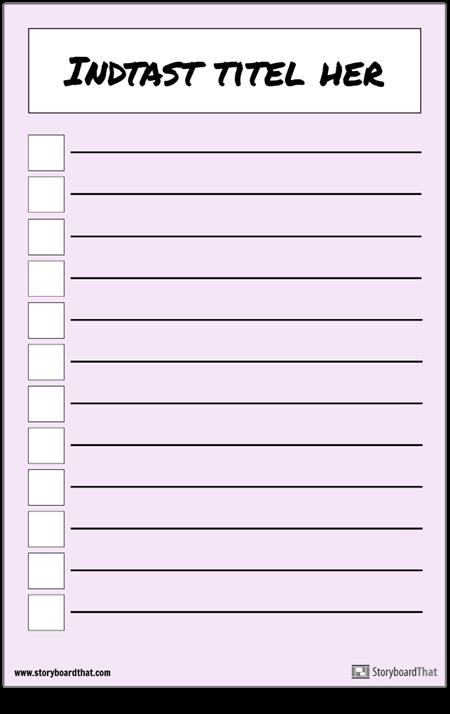 Grundlæggende Checklisteplakat