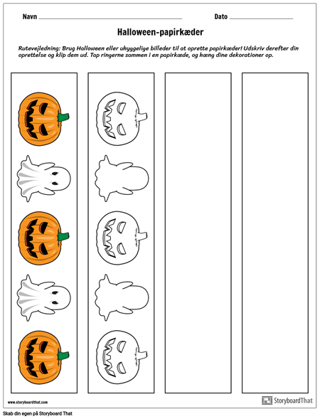 Halloween-papirkæder