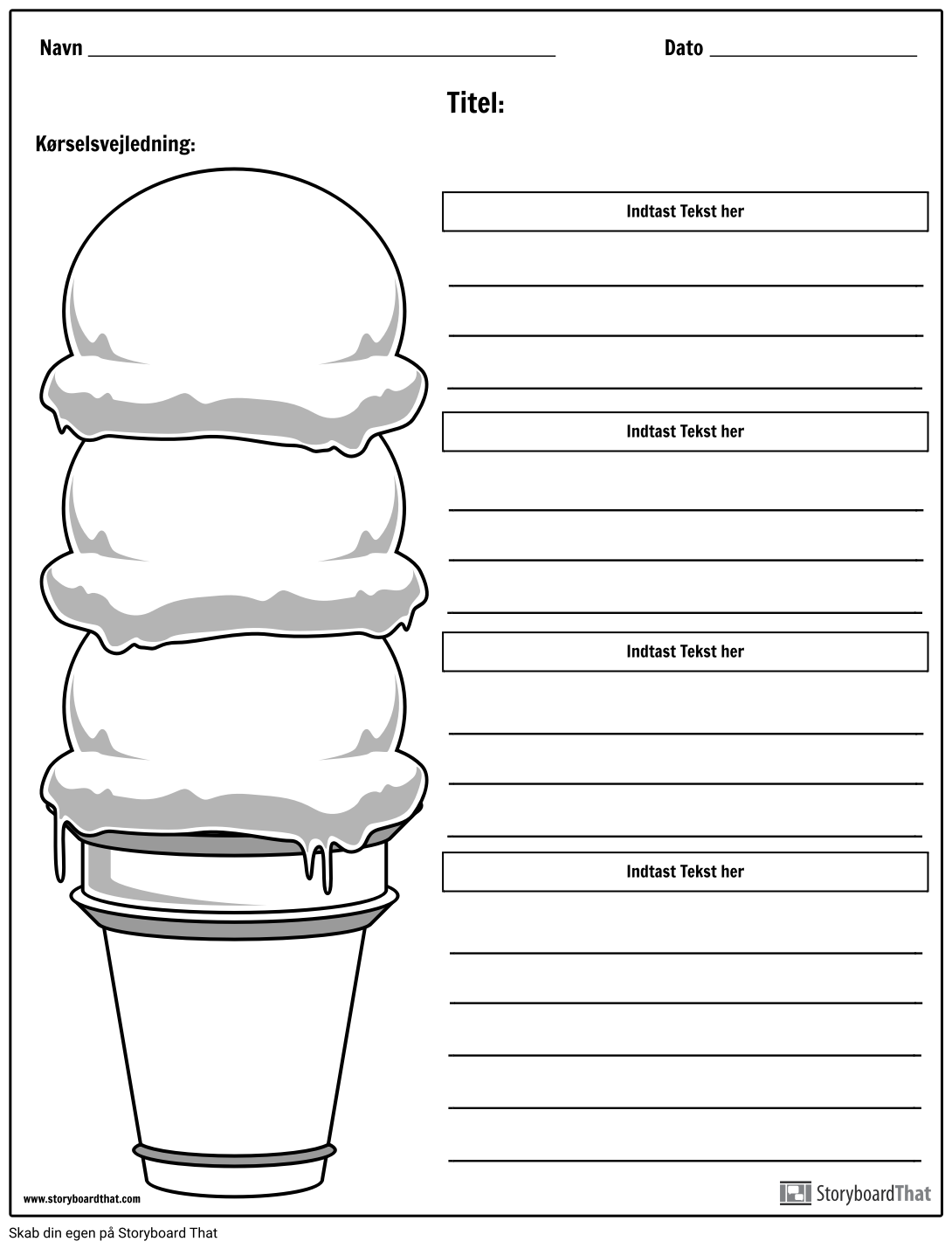Ice Cream Cone Paragraph
