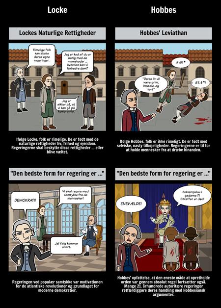 Oplysningstiden Videnskabelige Revolution - Locke vs Hobbes