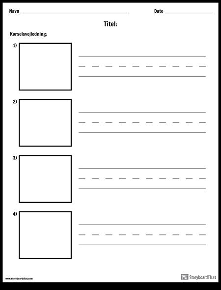 Øvelse Skrivning - Længere ord og Billedkasser